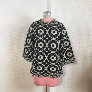 Vintage Jantzen Floral Pattern Sweater